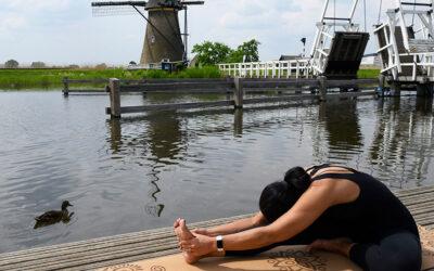 Yoga träna utomhus